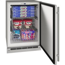 """Outdoor Collection 24"""" Convertible Freezer With Stainless Solid Finish and Field Reversible Door Swing (115 Volts / 60 Hz)"""