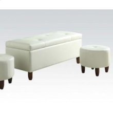 Ivory 3pc Pk Bench , Ottomans