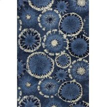 "Allure 4050 Blue Starburst 2'3"" X 7'6"" Runner"