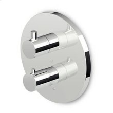 1/2 built-in thermostatic shower mixer with integrated stop valve and 2 way diverter.