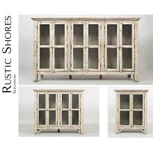 "Rustic Shores Scrimshaw 48"" Accent Cabinet"