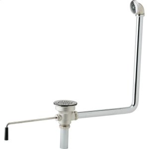 "Elkay 3-1/2"" Drain Fitting Rotary Lever Operated with Overflow Product Image"