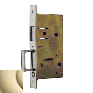 Lifetime Polished Brass 8603 Pocket Door Strike with Pull Product Image
