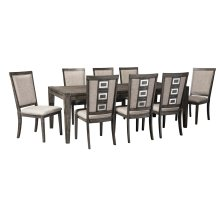 Chadoni - Gray 9 Piece Dining Room Set