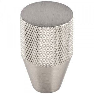 Beliza Conical Knurled Knob 13/16 Inch Brushed Satin Nickel Product Image