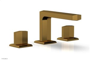 DIAMA Widespread Faucet - Blade Handles Low Spout 184-03 - French Brass Product Image