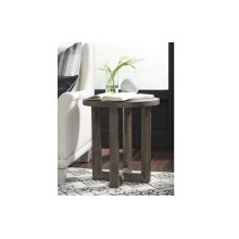 Facets Round End Table