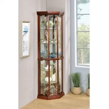 Traditional Medium Brown Curio Cabinet