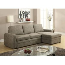DERWYN L-BROWN SECTIONAL SOFA