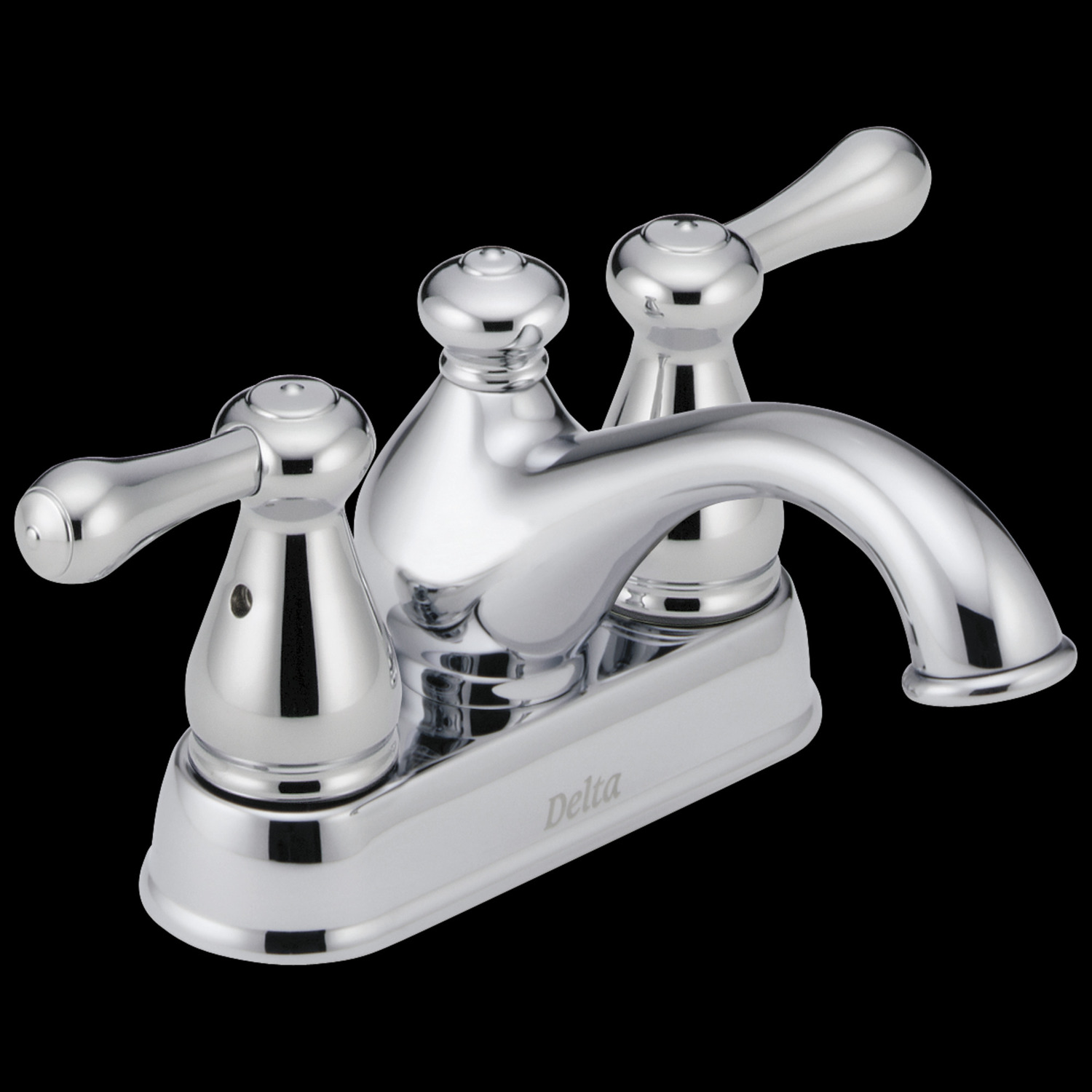 Chrome Two Handle Centerset Bathroom Faucet