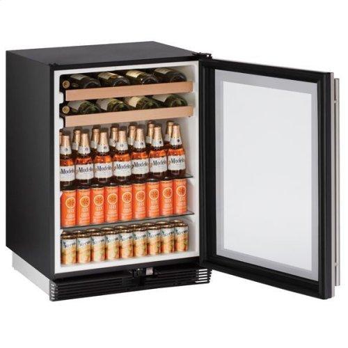 "24"" Beverage Center With Stainless Frame Finish (115 V/60 Hz Volts /60 Hz Hz)"