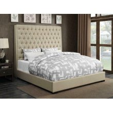 Camille Cream Upholstered California King Bed