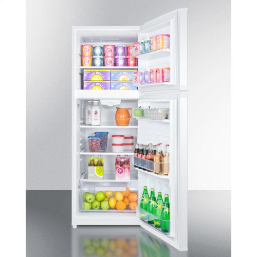 """Counter Depth Frost-free Refrigerator-freezer In White With A 26"""" Footprint and Reversible Doors"""