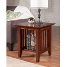 Mission End Table Walnut Product Image