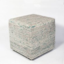 "F801 Ice Blue Viscose Pouf 18"" X 18"" X 18"""