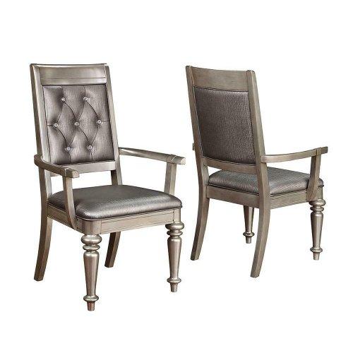 Bling Game Hollywood Glam Metallic Platinum Side Chair
