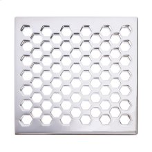 "Oil Rubbed Bronze 6"" Square Shower Drain"