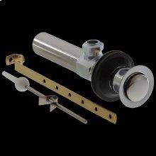 Chrome Metal Drain Assembly - Less Lift Rod - Bathroom