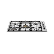 36 Drop-in low edge cooktop 5-burner Stainless Steel