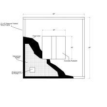 Fountain Installation Kit 4'x4'