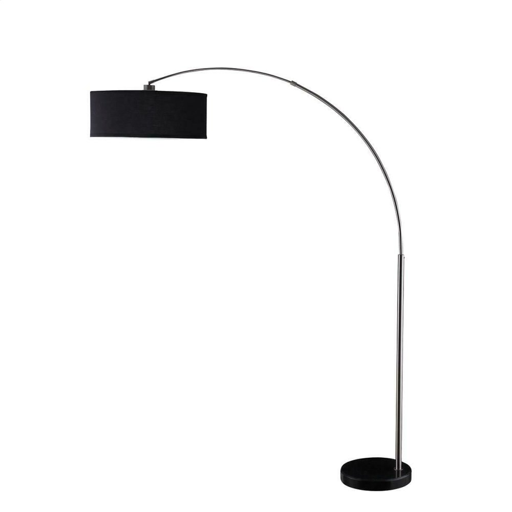 Contemporary Black and Chrome Floor Lamp
