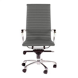 Omega Swivel Office Chair High Back Grey