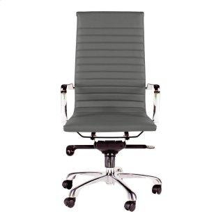 Omega Swivel Office Chair High Back Grey