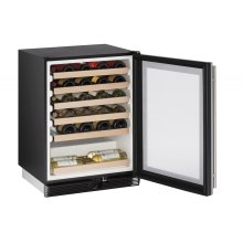 "1000 Series 24"" Wine Captain® Model With Stainless Frame Finish and Field Reversible Door Swing (115 Volts / 60 Hz) - Floor Model"