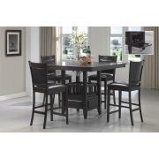 Jaden Transitional Cappuccino Five-piece Counter-height Dining Set Product Image