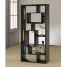 Transitional Black Oak Bookcase Product Image