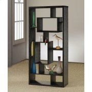 Transitional Black Oak Bookcase Product Image