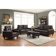 ESPRESSO LEATHER GEL LOVESEAT Product Image