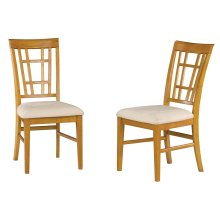 Montego Bay Dining Chairs Set of 2 with Oatmeal Cushion in Caramel Latte