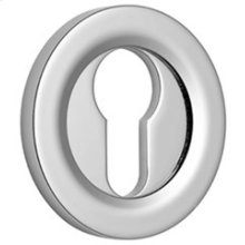 Brushed Gold Gloss Euro concealed fix escutcheon