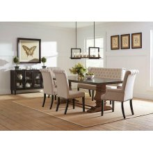 Mapleton Rustic Amber Dining Table