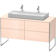 Vanity Unit For Console Floorstanding, Apricot Pearl High Gloss (lacquer)