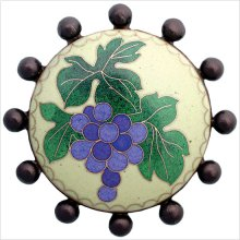 Cloisonn' Beaded with Grapes