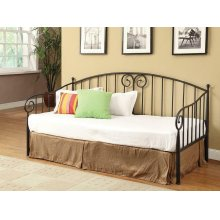 Traditional Black Metal Twin Daybed