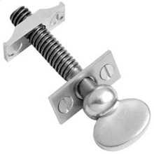 "Chrome Plate Sash screw, 3 1/16"" / 5/16"" thread"