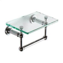 "Polished Chrome 9"" Shelf with Towel Bar"