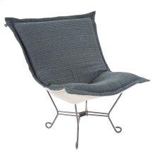 Scroll Puff Chair Alton Indigo