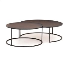 Antique Copper Clad Finish Catalina Nesting Coffee Table