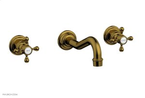HENRI Wall Lavatory Set With Cross Handles 161-11 - French Brass Product Image