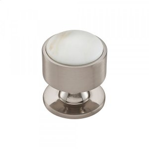 Firesky Calacatta Gold Knob 1 3/8 Inch Brushed Satin Nickel Product Image