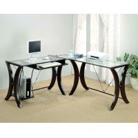 Contemporary Cappuccino Desk Set Product Image