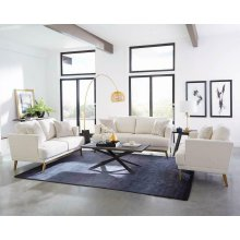 Margot Mid-century Modern Beige Sofa
