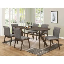 Mcbride Retro Warm Brown Dining Table