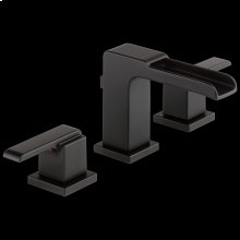 Matte Black Two Handle Widespread Channel Bathroom Faucet