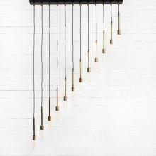 Iris Chandelier-antique Brass