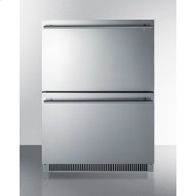 Commercially Listed Energy Star Certified 2-drawer All-refrigerator In Stainlness Steel Designed for Indoor or Outdoor Use Under Standard or ADA Compliant Counters